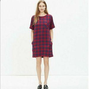 Madewell Edina plaid short dress